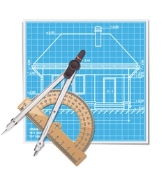 Layout with Protractor vector image vector image