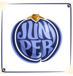 Logo for juniper vector
