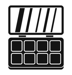 Makeup palette icon simple style vector image