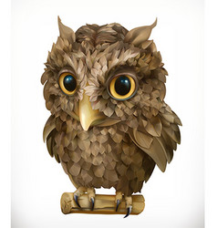 Owl Night bird Funny animal 3d icon vector image