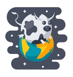 Parody science icon vector