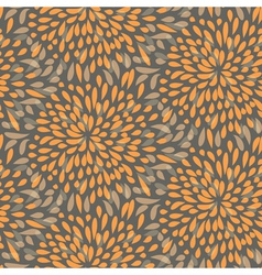Seamless splattered fireworks pattern in orange vector image