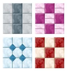 Tile set pattern vector image vector image