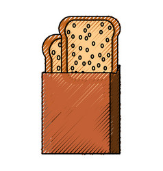 Toasted bread box vector