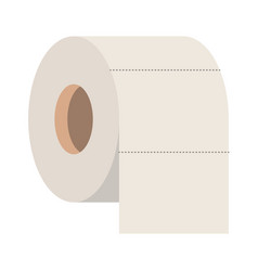 toilet paper roll in colorful silhouette vector image