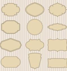 vintage striped frames vector image vector image
