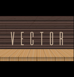 wood table top on ebony background vector image