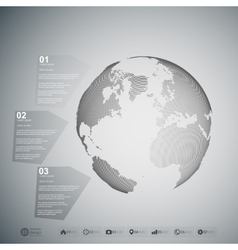 World globe Infographic template for business vector image