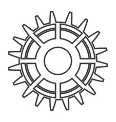 Gear engineering design vector
