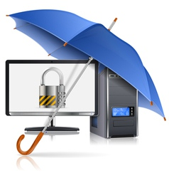 Safe Computer Concept vector image