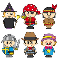Children dressed vector