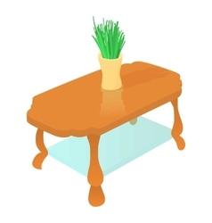 Coffee table icon cartoon style vector image