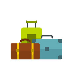 baggage icon flat style vector image