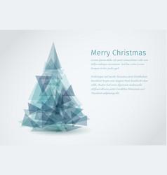 modern christmas card with christmas tree vector image