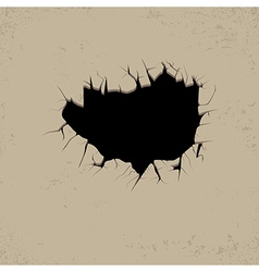 Hole black vector