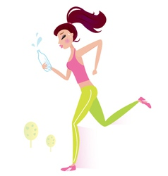 Healthy woman vector