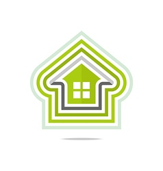 Logo private buildings design homekey alarm style vector