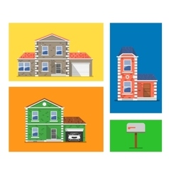 House colorful vector