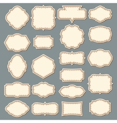Vintage label set decorative frame collection vector