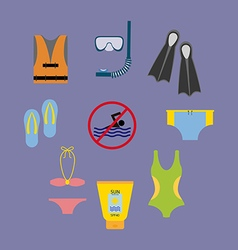 Vacation beach set vector