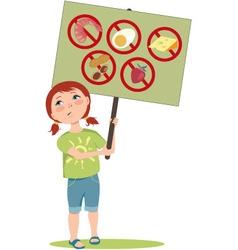 Allergic girl vector image vector image