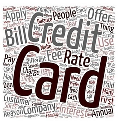 Apply for a credit card text background wordcloud vector