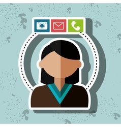 Avatar email telephone camera vector