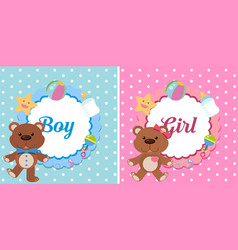Background design for boy and girl vector