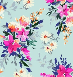 Bright Classic floral print vector image