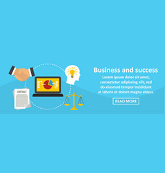 business and success banner horizontal concept vector image vector image