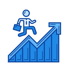 career ladder line icon vector image