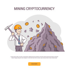 cryptocurrency concept banner isolated vector image