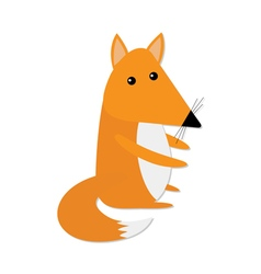 Cute baby fox cartoon character forest animal vector