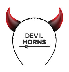Devil horns head gear red luminous horn vector