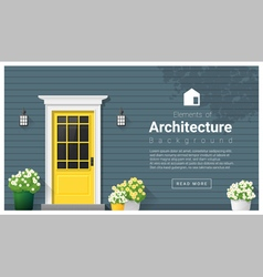 Elements of architecture front door background 11 vector image vector image