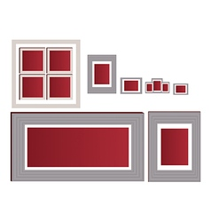 Empty photo frame collection vector image