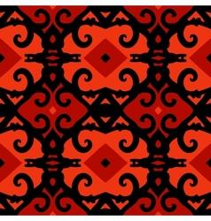 Ethnic pattern with stylized kazakh motifs vector