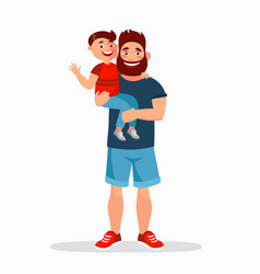 father and son flat father vector image vector image