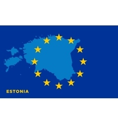 Flag of European Union with Estonia on background vector image vector image