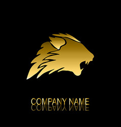 golden lion symbol vector image