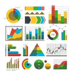Graph chart icons vector
