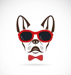 Images of dog bulldog wearing sunglasses vector