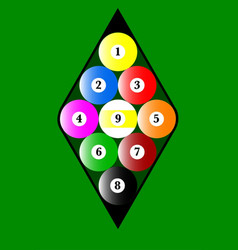 Nine ball rack vector