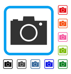 photo camera framed icon vector image vector image