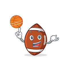 Playing basketball american football character vector
