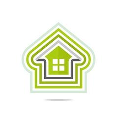 Private buildings design homekey alarm style vector