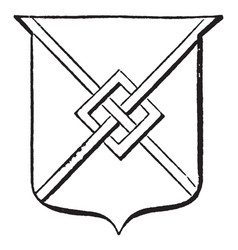 Saltire fretted has a charge consisting of two vector