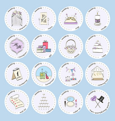 set with wedding icons and elements vector image vector image