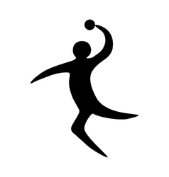 Sportsman man handball player vector