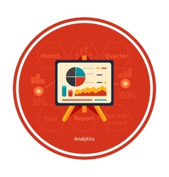 Stand with charts and parameters vector